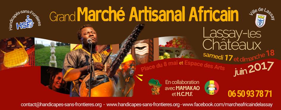 Le « Grand Marché Artisanal Africain » les 17 et 18 Juin 2017 à Lassay-les-Châteaux