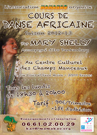 Cours de danse africaine par Mary Shelly - Saison 2012/13