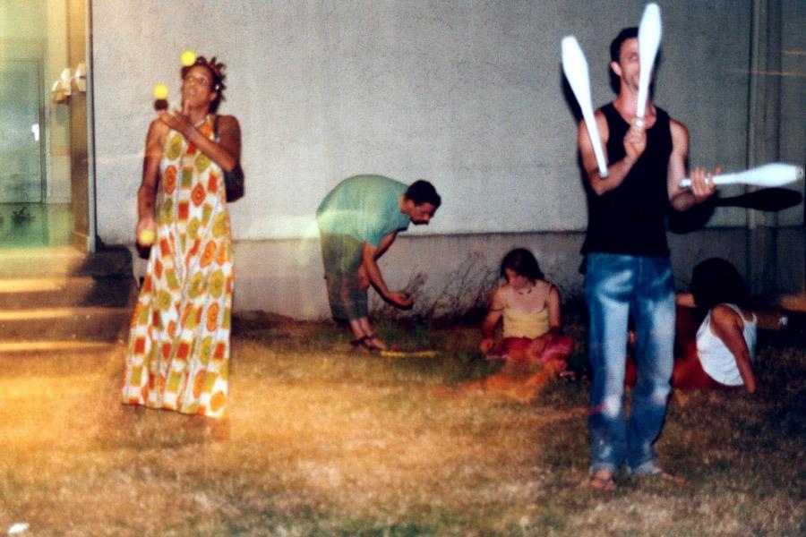 Petite séance de jonglage pour s'échauffer...